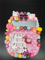 Hello kitty o doraemon calculadora solar es pegado taladro taladro determinado m frijoles hello kitty crystal gem ordenador
