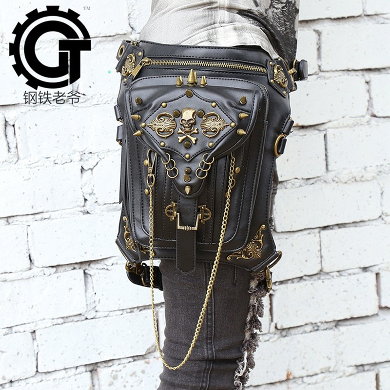 2018 Genuine leather  Special Drop Utility Thigh Pouch New Fashionable Military Women Waist Pack Weapons Tactics Ride Leg Bag