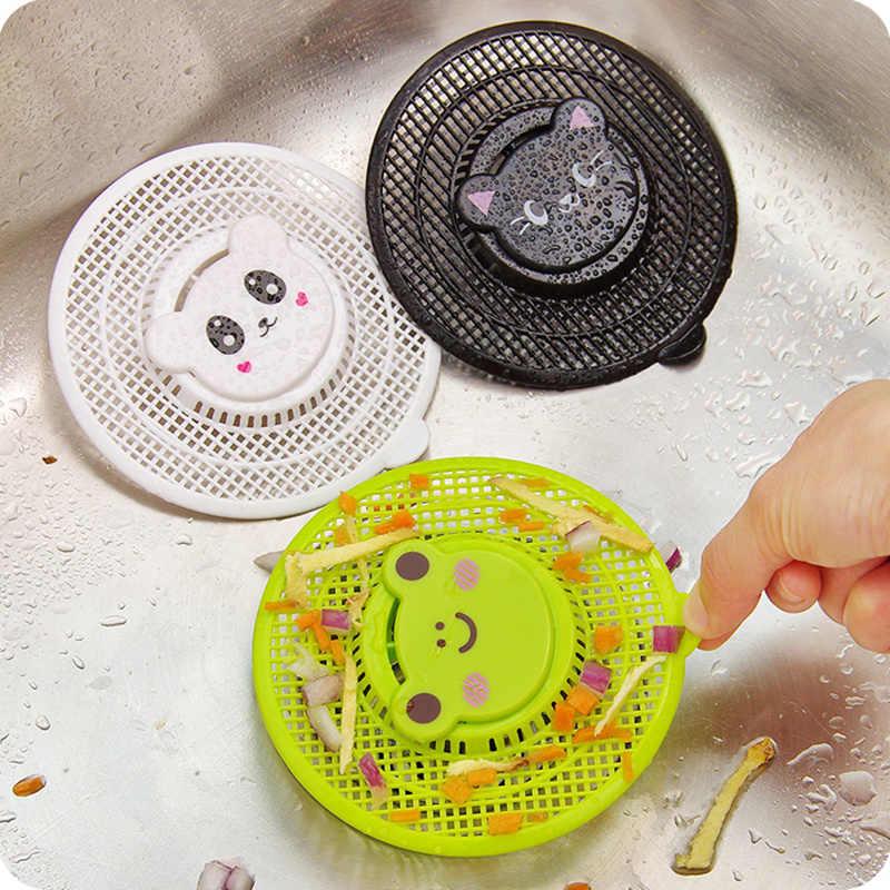 3pcs pia da cozinha Dos Desenhos Animados pode ser cortado anti-entupimento do filtro cabelo ralo do chuveiro filtro Stopper para banheira bacia