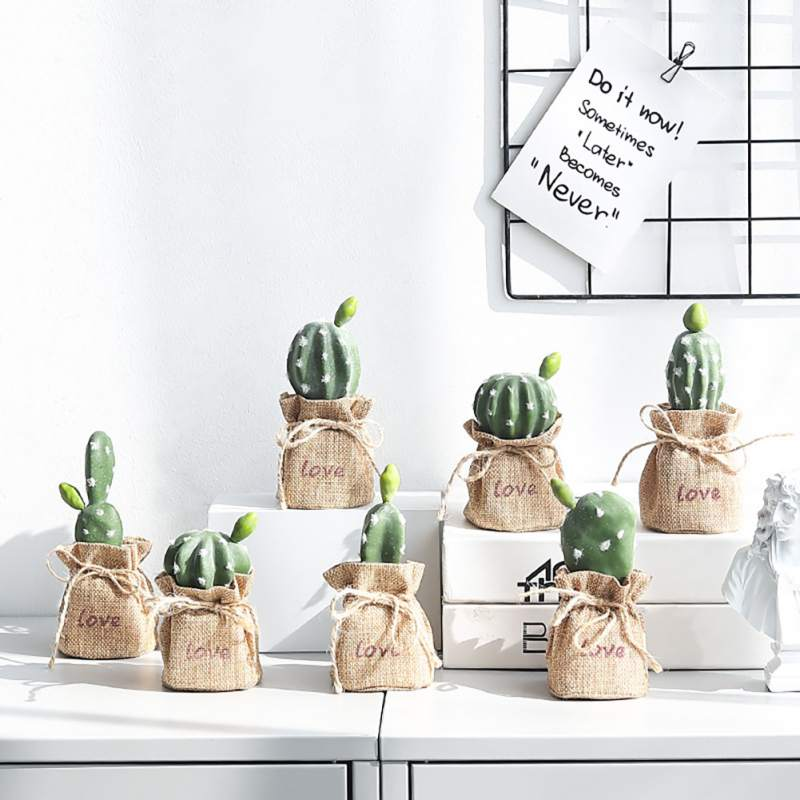Nordic Crafts Simulation Artificial Basin Tropical Plant Cactus Ornaments Creative Home Linen Decoration Potted