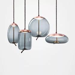 Nordic стиль минималистский постмодерн Роскошные светильник Винтаж Стекло подвесной элегантность дымчатый серый люстра