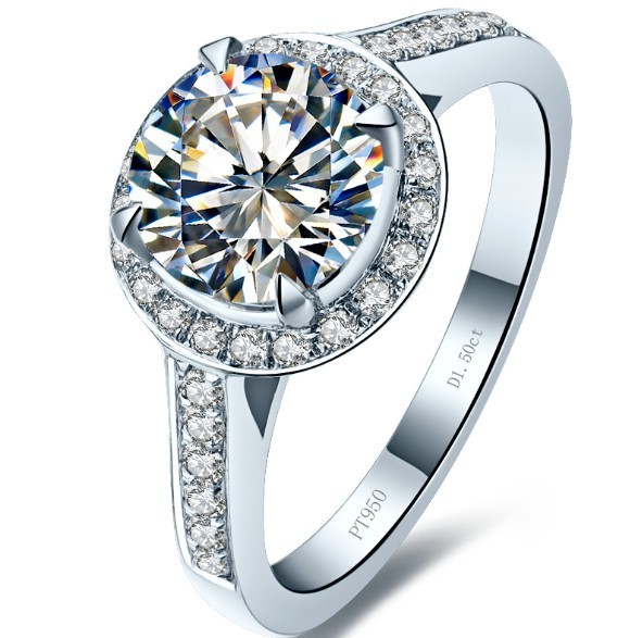 15ct excellent round cut synthetic diamonds wedding engagement ring for bridal 925 sterling silver jewelry - Sterling Silver Diamond Wedding Rings