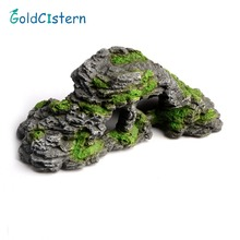 Resin Aquarium Reptile Turtle Terrace Lizard Scorpion Hideout Turtle Cave House Bask Platform Stage Decoration Ornament