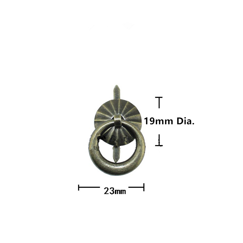 Antique Bronze Cabinet Knobs and Handles Furniture Knobs Kitchen Drawer Cupboard Ring Pull Handles Furniture Fittings,19mm,20Pcs antique hardware furniture handle cabinet knobs and handles retro kitchen knobs drawer cupboard pull handles furniture fittings
