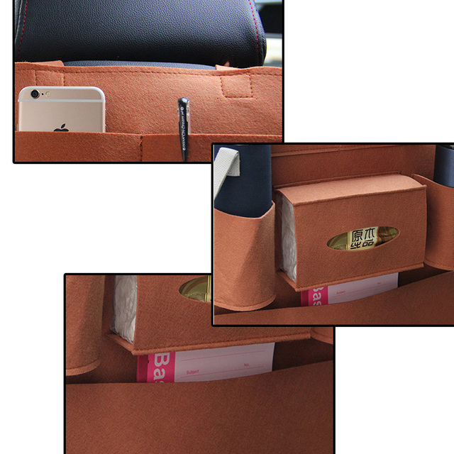 Car Seat Back Storage Bag Organizer Travel Box Pocket Universal Stowing Tidying Protector Kids Drink Auto Accessoires