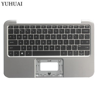 US laptop keyboard for HP Pavilion ENVY X2 11 G000 X2 11 G100 C shell English keyboard with palmrest upper cover