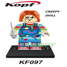 Single Sale Super Heroes Creepy Doll Jack Skellington Horror Theme Movie Building Blocks font b Action