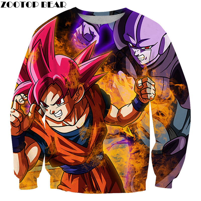Spring/Autumn Goku Men Pullover Sweatshirts Dragon Ball Anime Super Idol Streetwear 3D print Drop Ship Tracksuits ZOOTOP BEAR