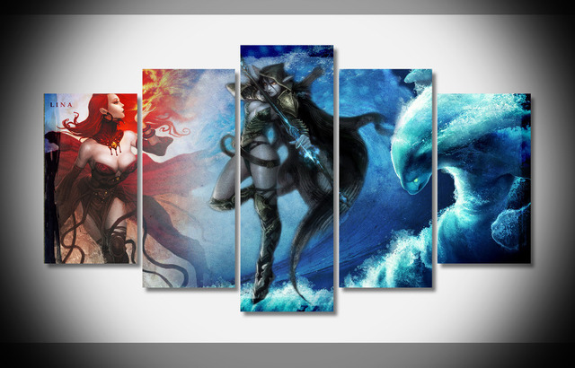 7404 dota 2 poster framed gallery wrap art print home wall decor gift wall picture already