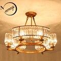 Современные Amreican промышленные Хрустальные потолочные светильники E14 светодиодные потолочные лампы для гостиной спальни кухни ресторана о...