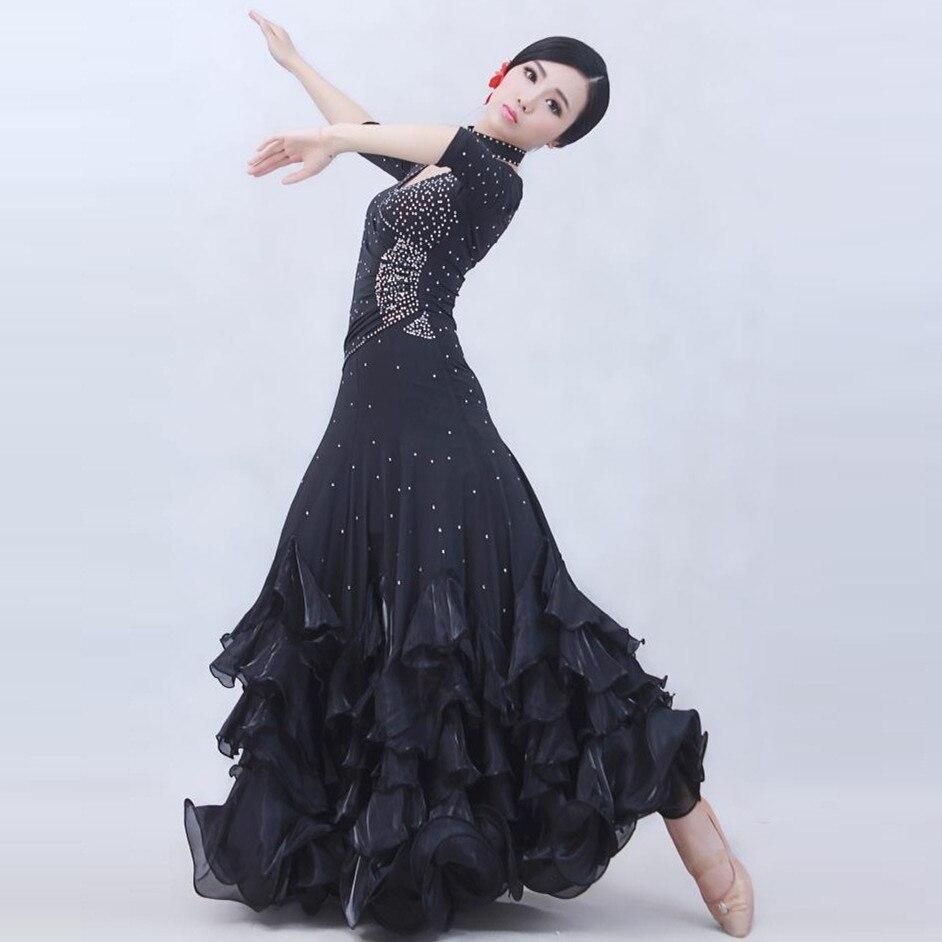 cda1aa7e9b7 4 χρώματα γυναίκα high-end μεγάλη ταλάντευση πρότυπο χορού κοστούμι ...