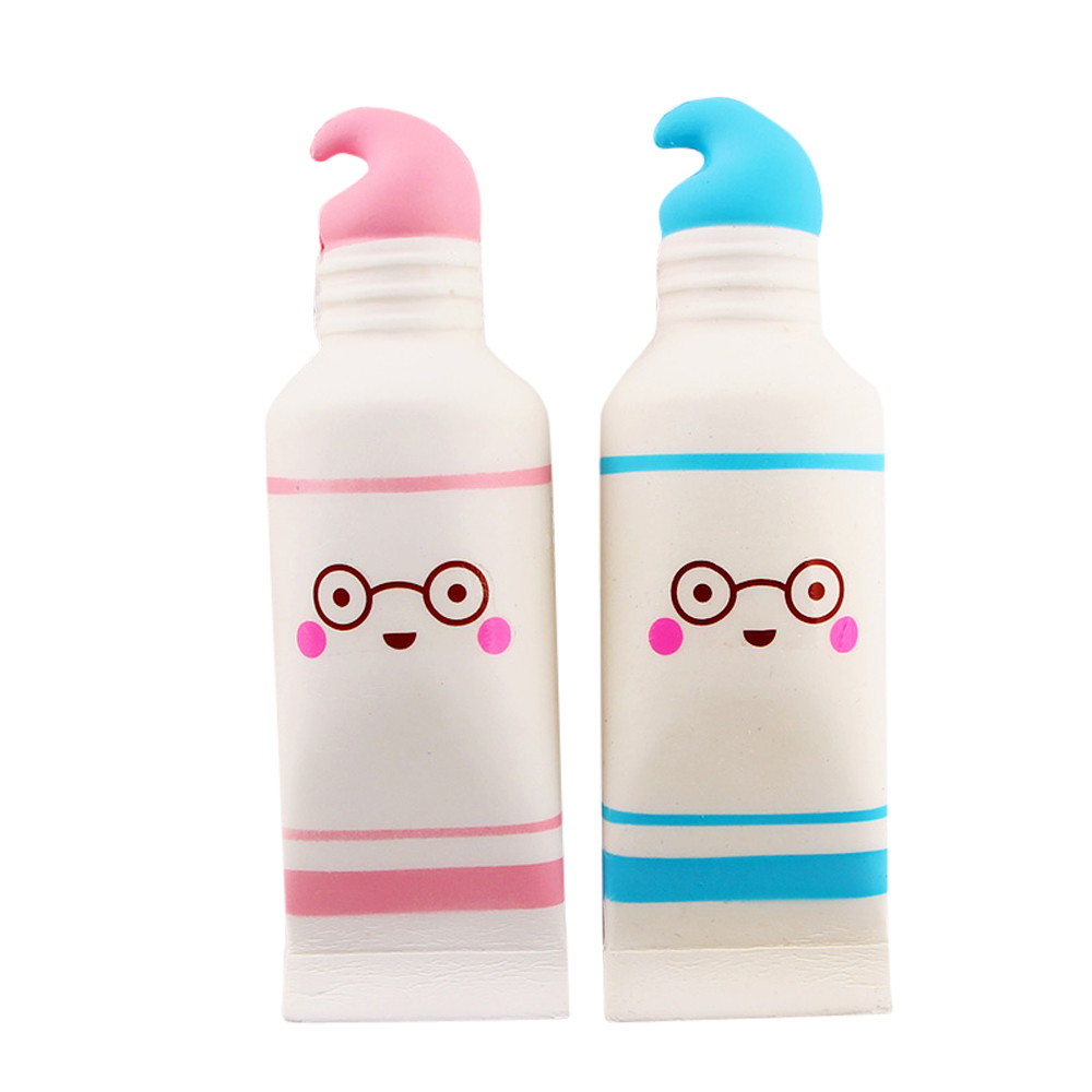 Random Color Squishy Squeeze Stress Reliever Simulation Cartoon Cute Toothpaste Scented Slow Rising Toy