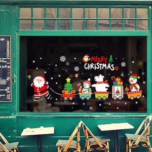 Image 3 - DIY Merry Christmas Wall Stickers Window Glass Festival Decals Santa Murals New Year Christmas Decorations for Home Decor New
