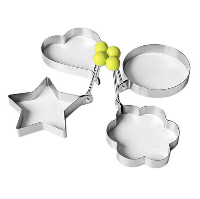 1pc Stainless steel frying eggs tools omelette mould device egg/pancake ring egg shaped kitchen appliances Cooking Tools
