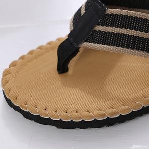 Image 4 - 2019 Strand/Home Zomer Schoenen Mannen Slippers Maat 41 44 Ademend Zolen Schoeisel Man Casual Flip Flops designer heren schoenen