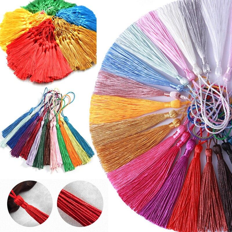 100 искусственная шелковая кисточка, кисточка для шитья, искусственная бахрома, отделка, кисточка, подвеска для штор, ювелирные изделия «сдел...