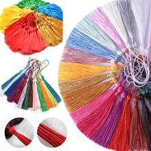 100pcs/Pack Silk Tassel Fringe brush Sewing accessories tassel fringe Trim pendant for curtains jewelry DIY Home Decor