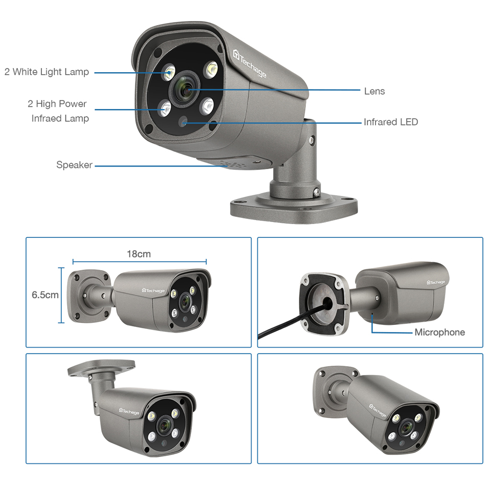 Hot DealsïTechage Video-Surveillance-Set HDD Ip-Camera Cctv-Security-System POE Outdoor H.265 8CH