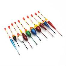 10Pc/Set Mix Color Durable Portable Fishing Float Bobber Slip Drift Tube Indicator Assorted Size Float Sea Light Stick Long Tail