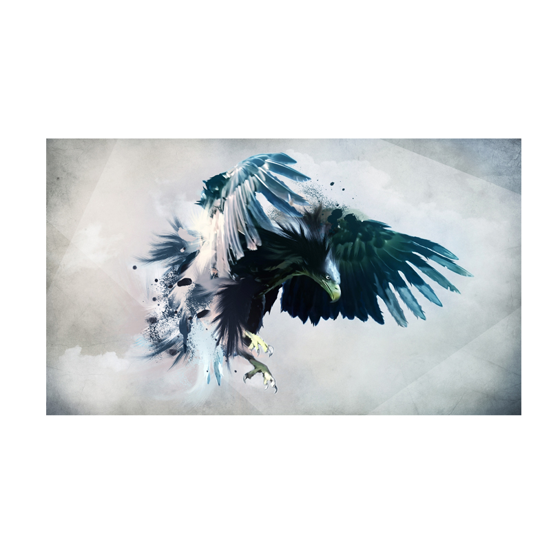 Modern Abstract Watercolor Brid Eagle Landscape Oil Painting Print on Canvas Pop Art Animal Poster Wall Picture for Living Room