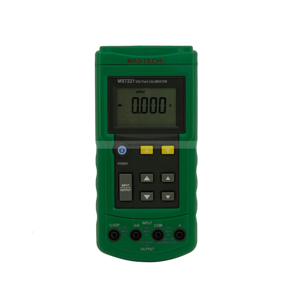 MASTECH MS7221 Voltage Current Calibrator 0~24mA DC Current Loop / 0~10V DC Voltage Tester free shipping newest mastech ms7220 thermocouple calibrator meter tester thermocouple calibrator express shipping