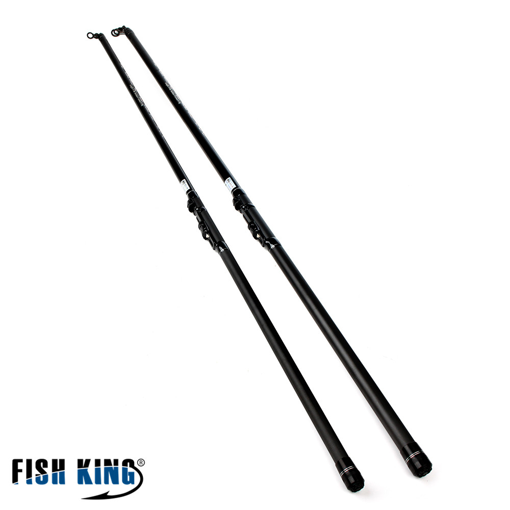 FISH KING Rock Fishing Rod 4M/5M 5-25G 4/5 Scetions  Hard Fishing Rods Carbon Material Light 2.2mm Fishing Ocean Fishing Rod