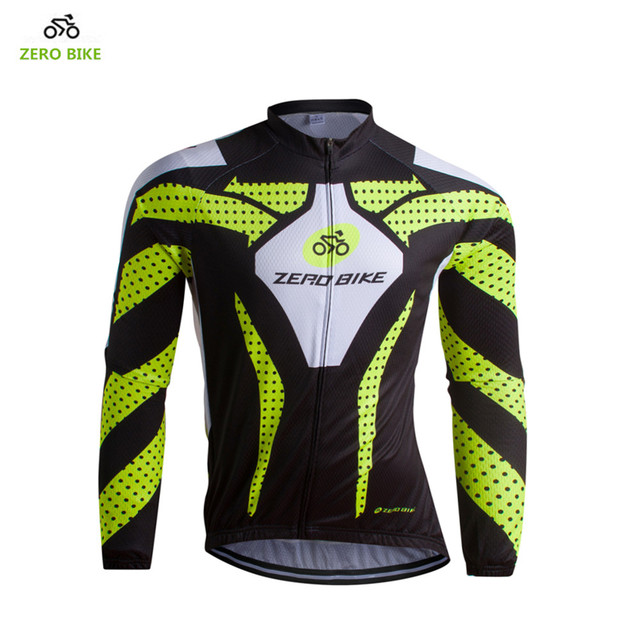 1c4ae9e01 Hot 2017 ZERO BIKE Men s Long Sleeve Cycling Jersey Spring   Autumn Quick  Dry Breathable Bicycle Clothing M-XXL