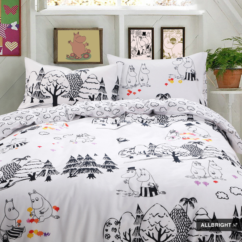 New pattern Allbright bedding set of four pieces Cartoon cotton