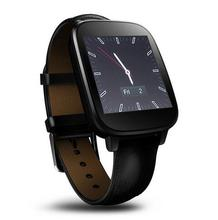 2016 New Fashion Wateproof IP65 Smart Watch HRM Real Heart rate Bluetooth Genuine Leather Strap Smartwatch For Android IOS
