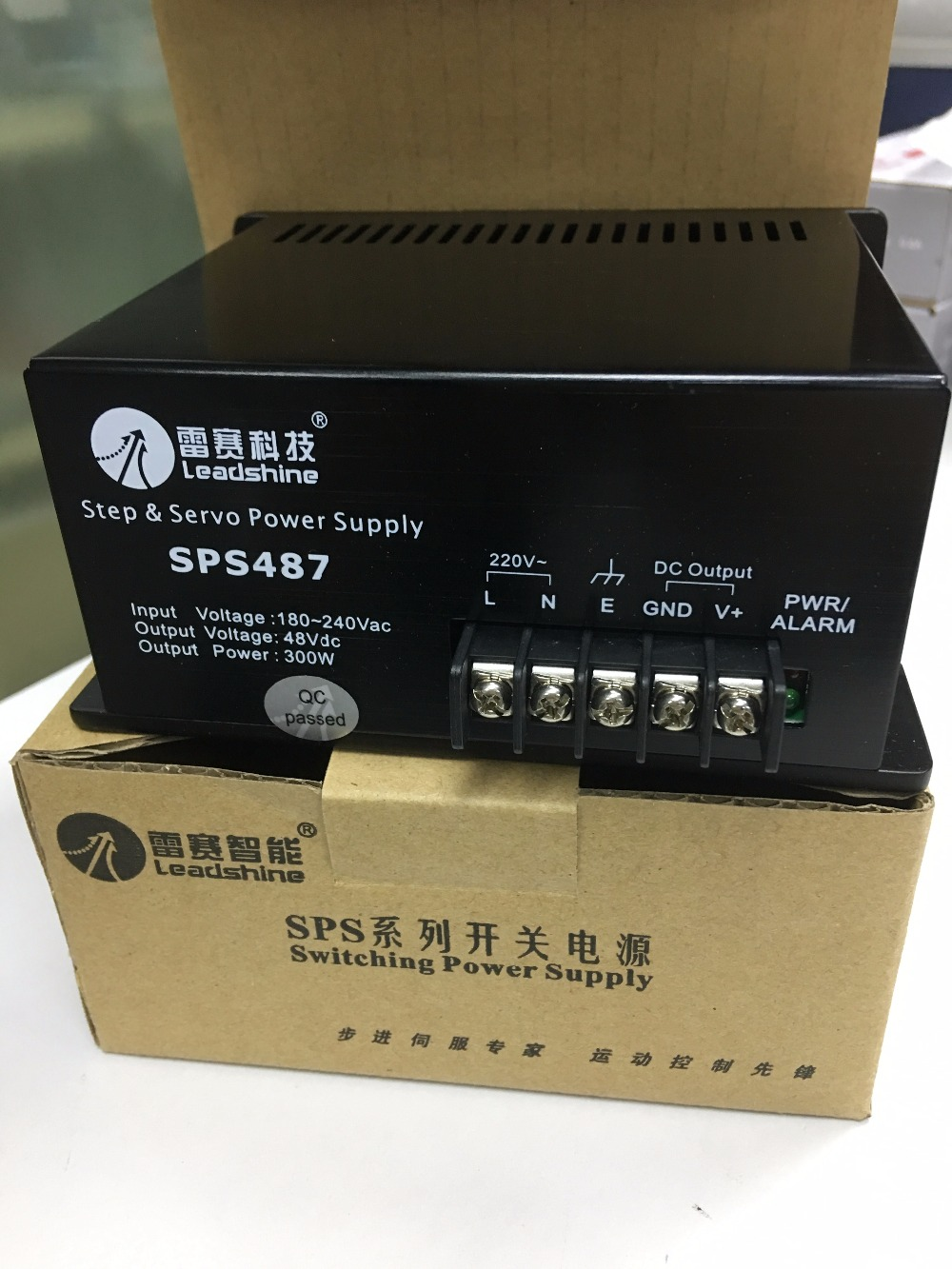 300W Leadshine switching power supply SPS487180-220VAC output 48VDC servo system power free shipping leadshine l5 750 el5 d0750 ach750 servo drive 220 230 vac input 5a peak output power to 750w hot sales