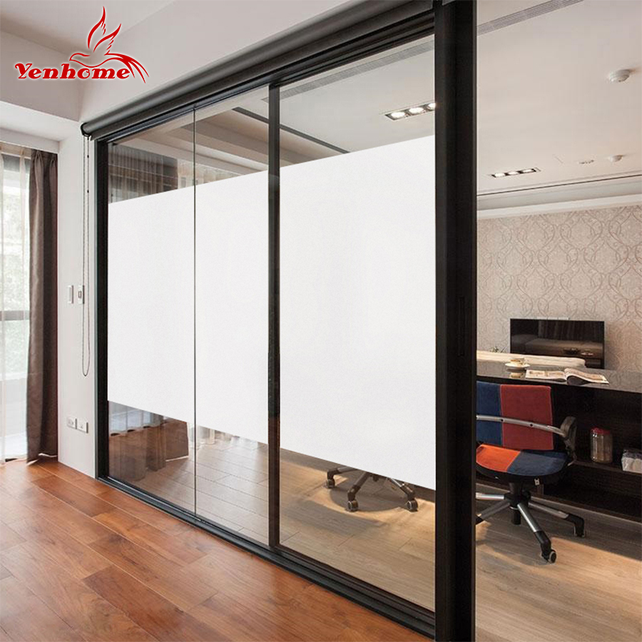 40CM*3M Electrostatic Decorative Film Frosted Glass Sliding Door Bathroom Window Glass Stickers Translucent Opaque Window films-in Decorative Films from ... & 40CM*3M Electrostatic Decorative Film Frosted Glass Sliding Door ...