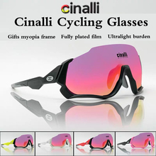 Cinalli Cycling Glasses Outdoor sport sunglasses Running Windproof Speed Skating Sunglasses Polarized color changing glasses