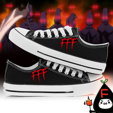Baka to Test to Shoukanjuu FFF low canvas shoes plimsolls men women's shoes student lovers cartoon rope soled shoes