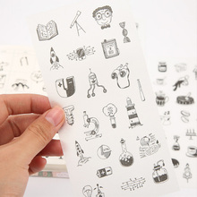6pcs/lot Small town story children Paper diy Decorative Sticker Diary Album Label Scrapbooking Stationery