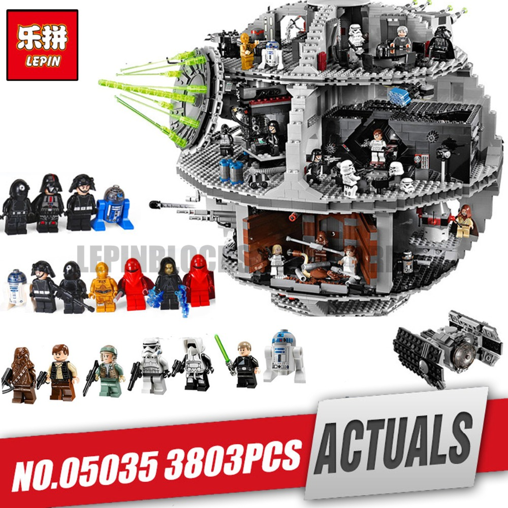 LEPIN 05035 Star Death Toys Wars Model Building Block Bricks Toys Kits Compatible for Children birthday Gifts legoing 10188 lepin 05063 05035 star classic modell wars bausteine 4016 stucke tod ucs stern baustein ziegel spielzeug kits kompatibel