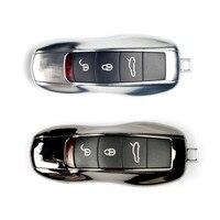 Chrom ABS Schlüssel Shell Schlüssel Halter Haushälterin Schlüssel Veranstalter Keychain Abdeckungen Schlüssel Fall Tasche Für Porsche Panamera Cayenne Macan 911|Schlüsseletui für Auto|Kraftfahrzeuge und Motorräder -