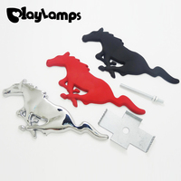 Car Styling 3D Metal Car Front Grille Running Horse/Mustang Car Stickers for Audi A1 A3 A4 B6 B8 B5 B7 A5 Car Accessories