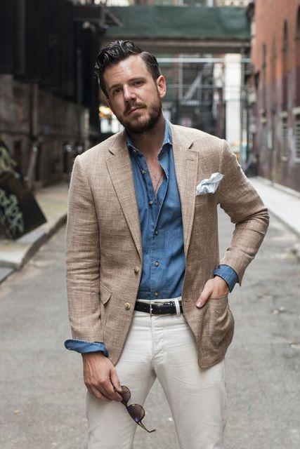 9ac2653e4fd9 2017 Latest Coat Pant Design Brown Khaki Linen Men Suit Summer Casual  Tuxedo Terno 2 Piece Custom Blazer Masculino jacket+Pant