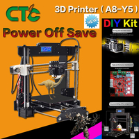 A8 3D Printer High Accuracy Desktop Prusa i3 DIY Kit LCD Screen Printer Self Assembly Support