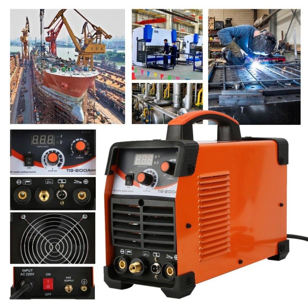 TIG200 Multifunction 220V MMA Argon Arc Welding Machine Stable Efficient Mig Weldering Equipment Welder EU Plug