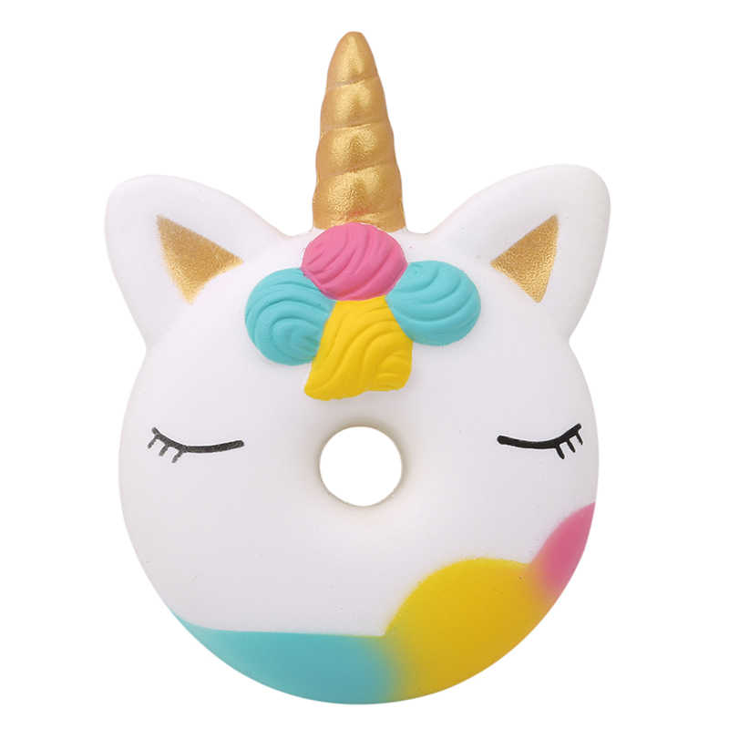 1PC จัมโบ้ Unicorn บีบ Donut เค้กขนมปัง Squishies ครีมกลิ่นหอมช้าขึ้น Squeeze ของเล่นสำหรับเด็ก