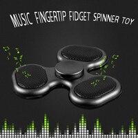 New Wirless Hand Spinner Music Card Coloured Spiner Flash Light Fidget Tri Spinner Finger Desk Toys