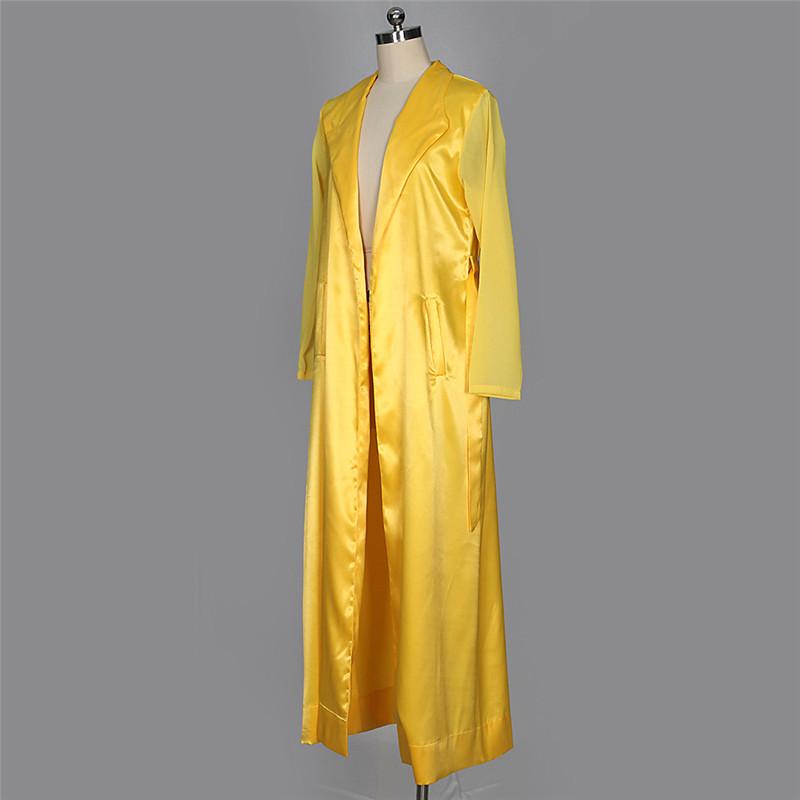 autumn chiffon sleeve long trench outwear-31