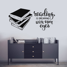 Books Vinyl Wall Decal Library Reading Room Sticker Store Widnow Poster Removable Quote Decals AY1627