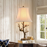 European style living room table lamp desk classical furnishings with Bird resin luxurious sofa table lamp home support