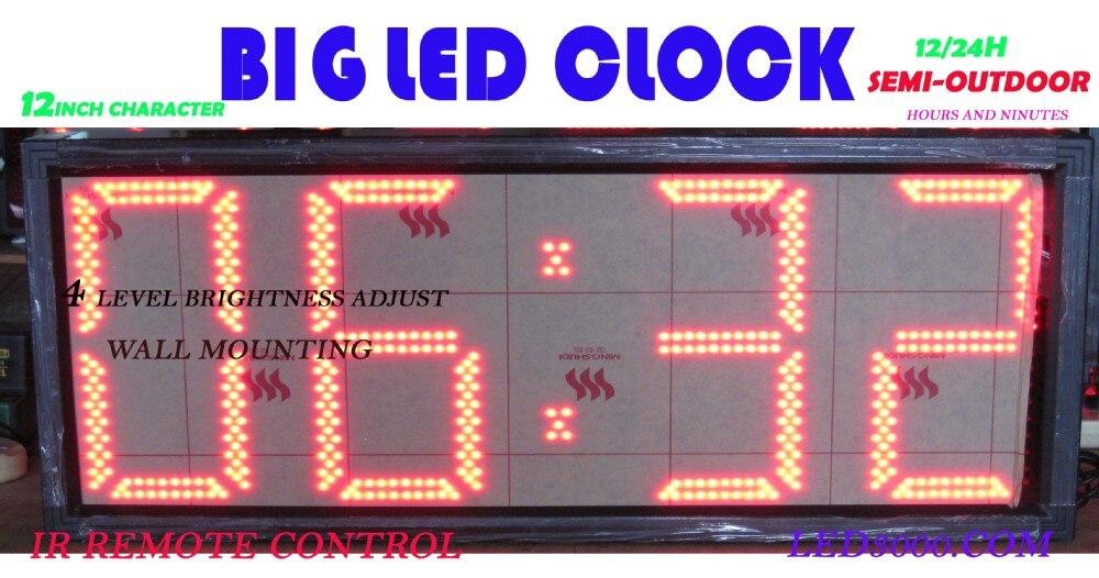 12palcové 4digits LED hodiny (HST4-12R)