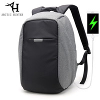 ARCTIC HUNTER USB Charge Backpack Women Waterproof 15 6 Inch Laptop Back Pack Men Fashion Business