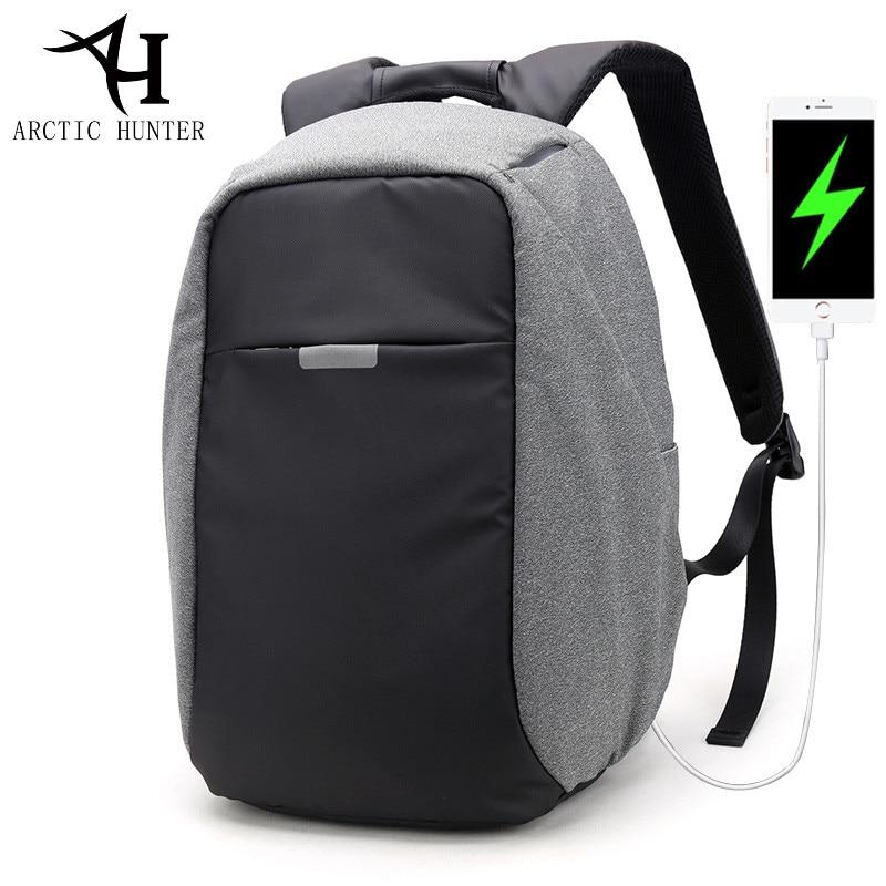 ARCTIC HUNTER USB charge backpack Women waterproof 15.6 inch laptop Back pack Men Fashion Business Casual Daypack Bag mochila все цены