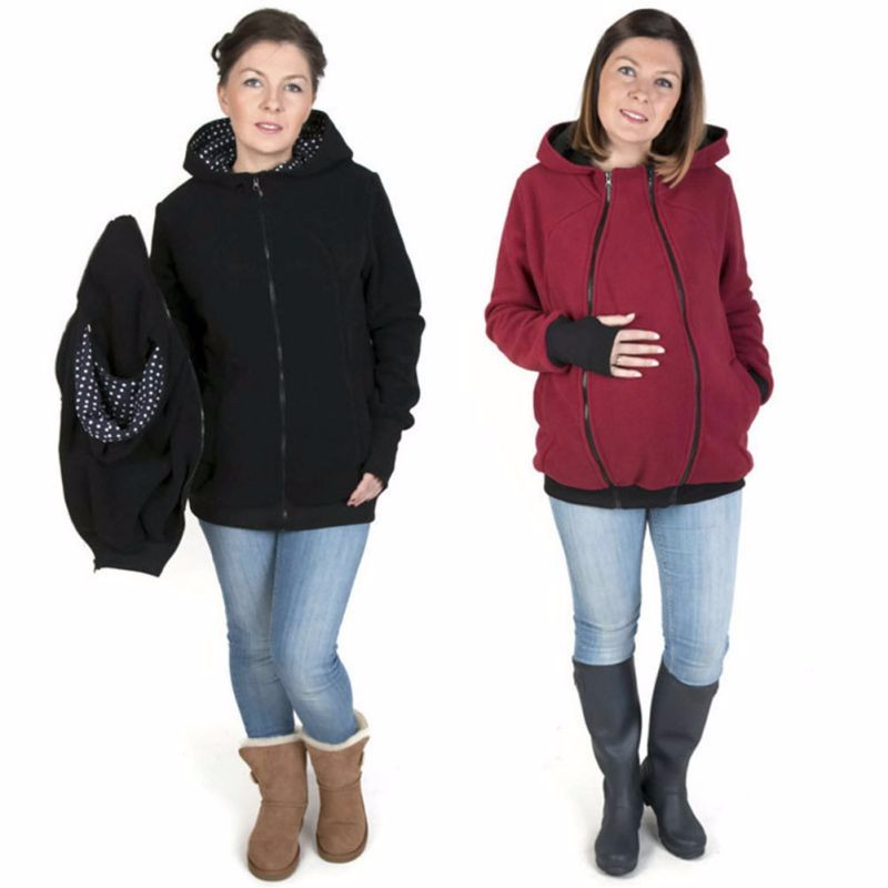 3 in One Woman Baby Carry Hoodies
