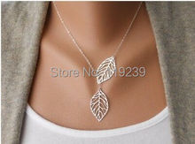 KN167 High Fashion Leaf Pendant V Necklaces Simple Design Bijoux Items Aliexpress Women Short Collar Collier Jewelry Accessories